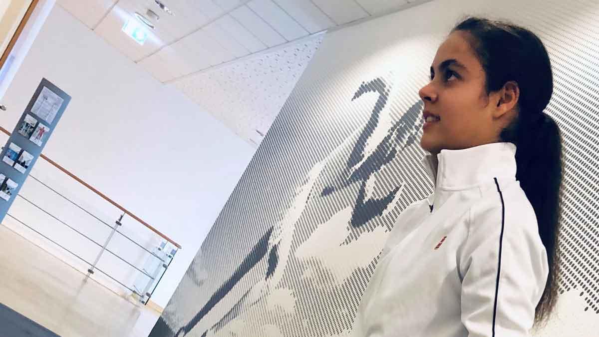 Liana Cammilleri: Konzentriert und focussiert beim Trainingsaufbau nach einer SG-Verletzung...