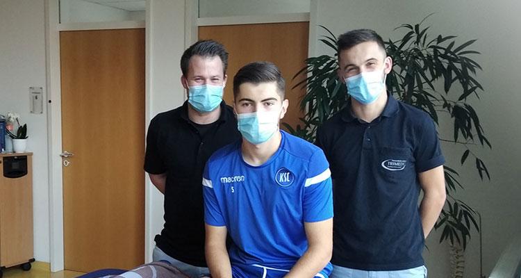 TRIMEDIC: Erste Anlaufstelle in Sachen Verletzungsprävention und Akutversorgung für die Nachwuchsspieler des Karlsruher SC...