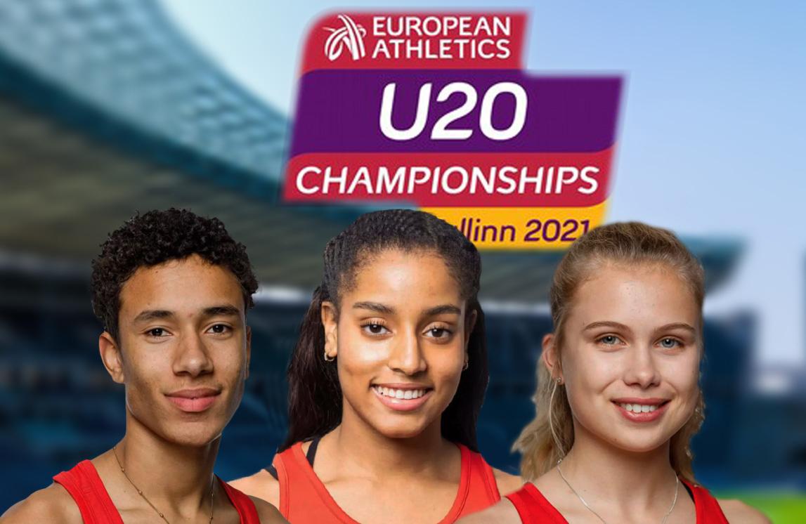 Bronzemedaille für Mikaelle Assani bei der U20 Leichtathletik-EM in Tallinn...