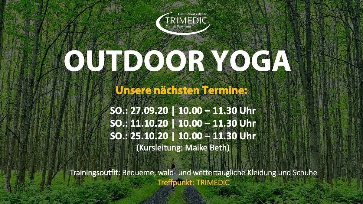 OUTDOOR YOGA: Unsere nächsten Outdoor-Yoga Termine (Sept/Okt 2020)