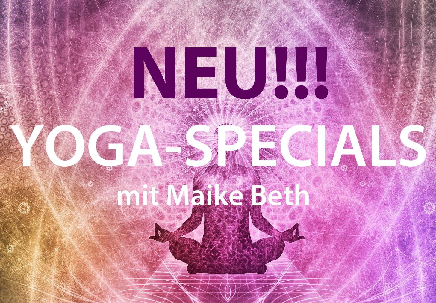 Am 10.10.21 starten wir wieder mit unseren Yoga-Specials ...