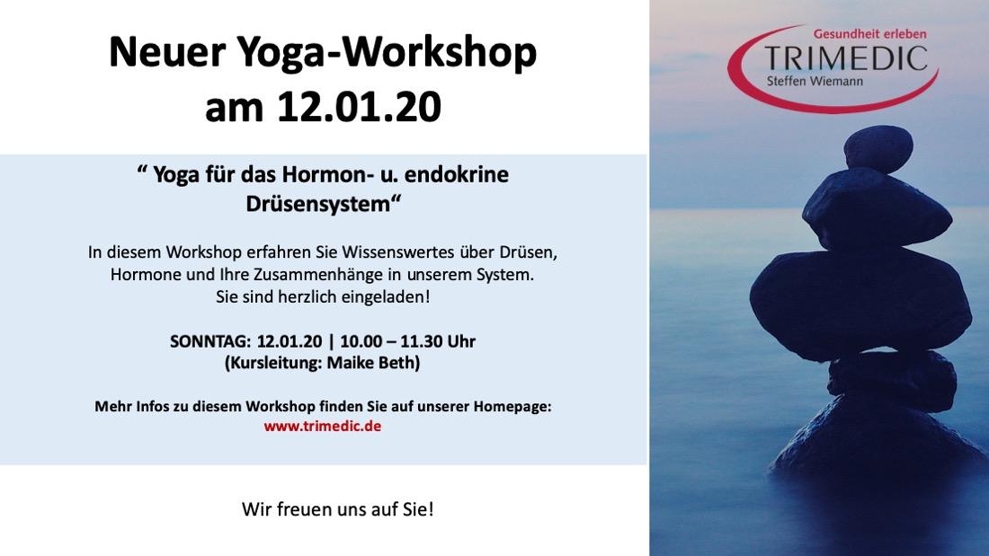 Neuer Yoga-Workshop am Sonntag, den 12.01.2020 – 10.00 Uhr...